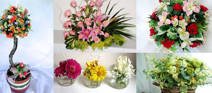 Arranjos de flores artificiais para igreja, dia das mães, namorados